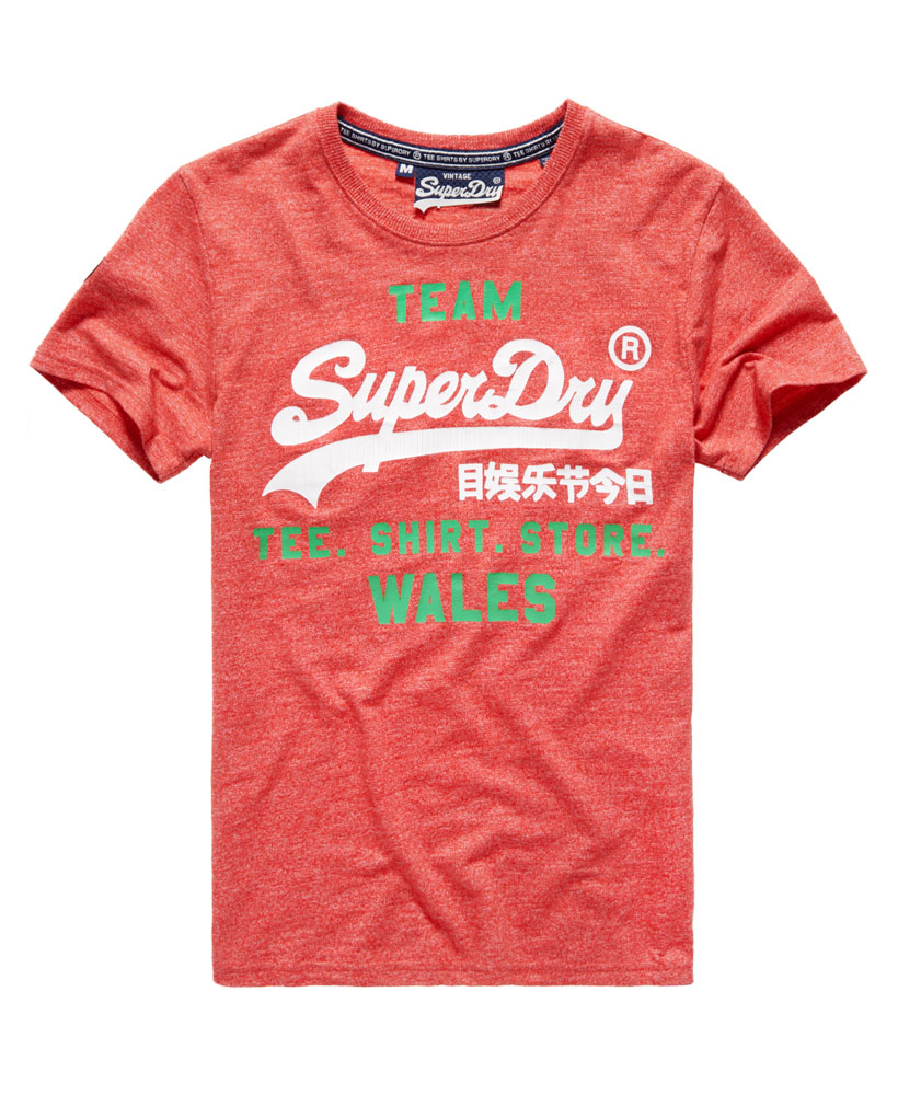 Nuova linea uomo superdry galles vintage logo t shirt euro for Old logo t shirts