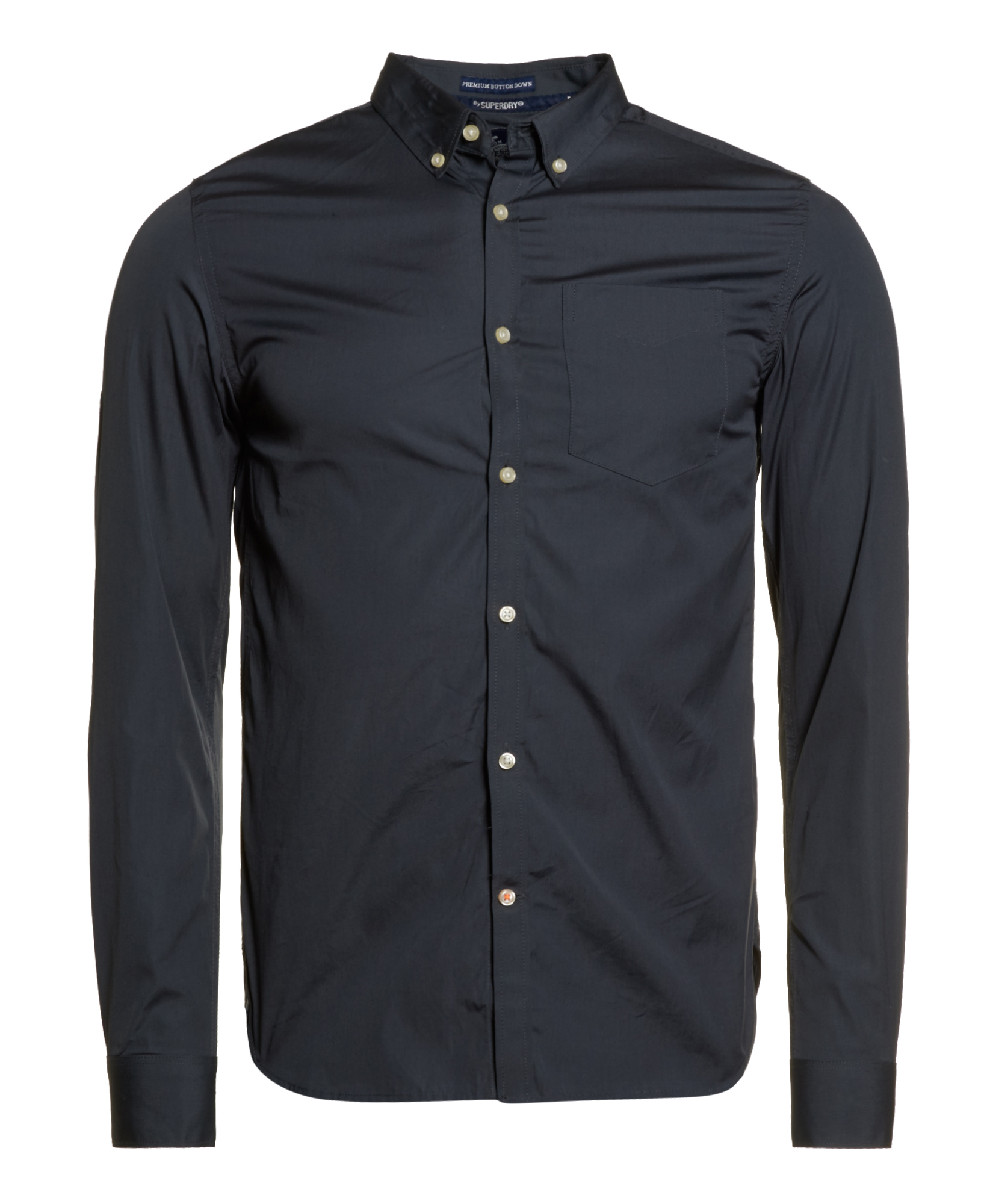 New mens superdry premium button down shirt slate grey ebay for Mens grey button down dress shirt
