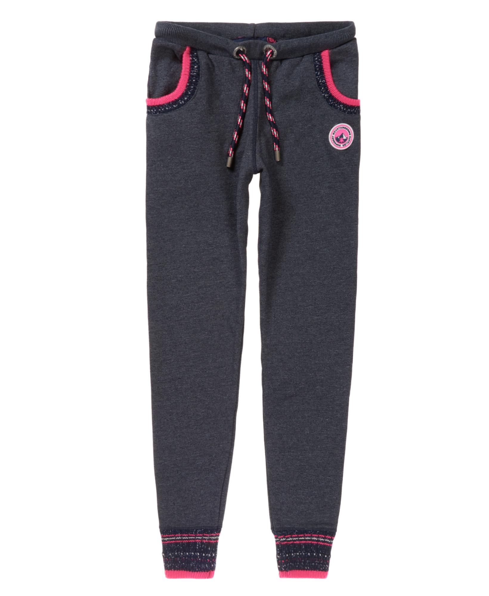 neue damen superdry retro knit trim jogginghose eclipse navy grit ebay. Black Bedroom Furniture Sets. Home Design Ideas