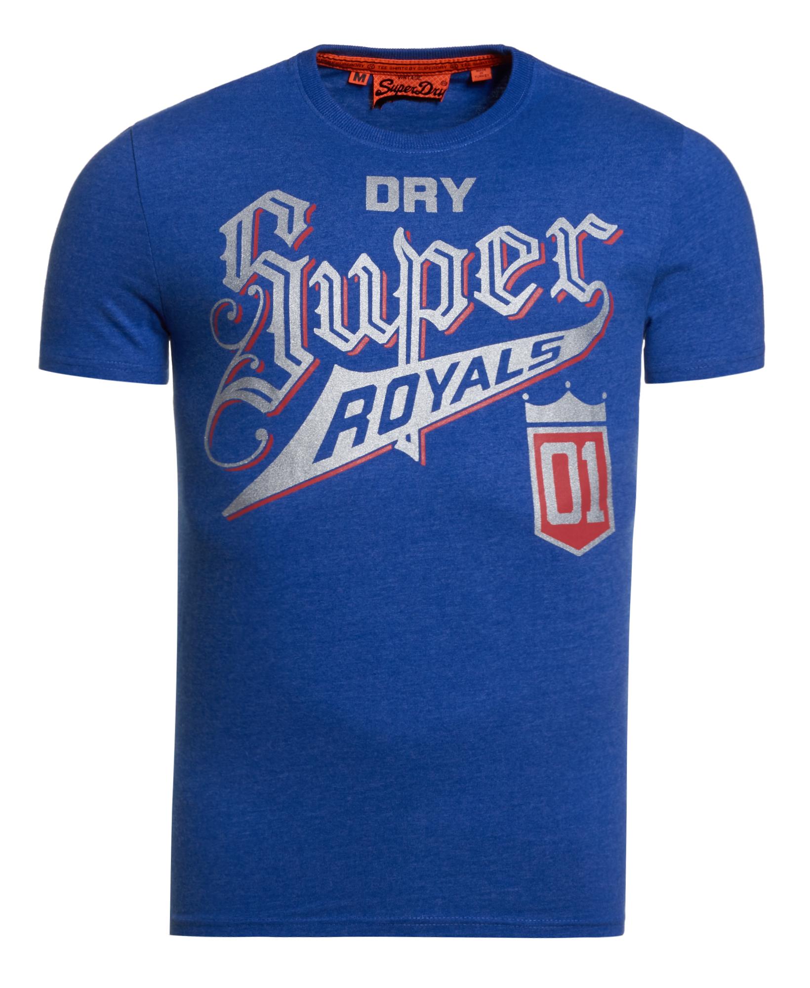 New mens superdry royals tin tab t shirt ocean blue marl for Ocean blue t shirt