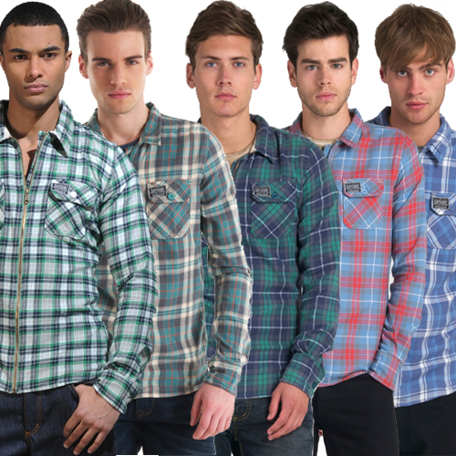 New-Mens-Superdry-Greaser-Shirt-AB