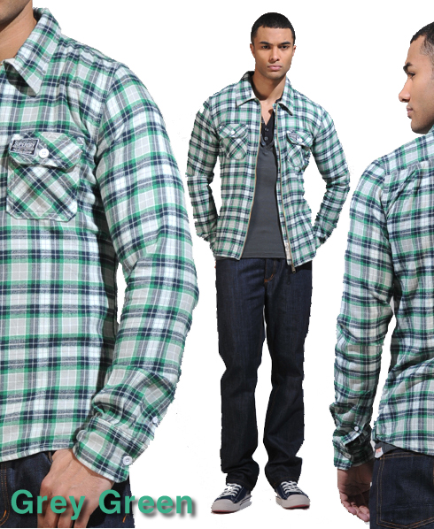 New Mens Superdry Greaser Shirt AB