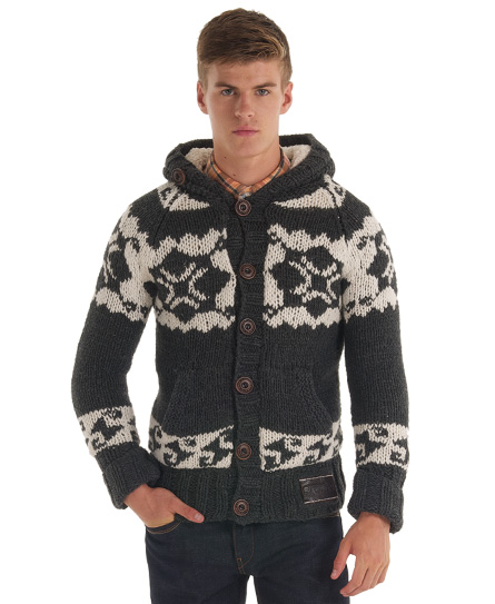 new mens superdry courcheval knit jumper charcoal grey ebay. Black Bedroom Furniture Sets. Home Design Ideas