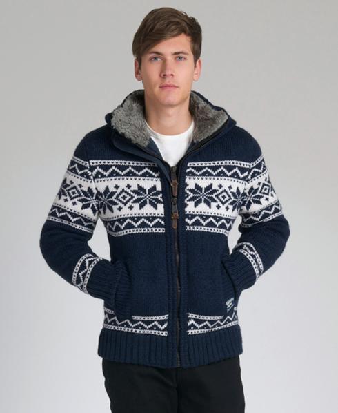 neue herren superdry premium knit ski puffer strickjacke. Black Bedroom Furniture Sets. Home Design Ideas