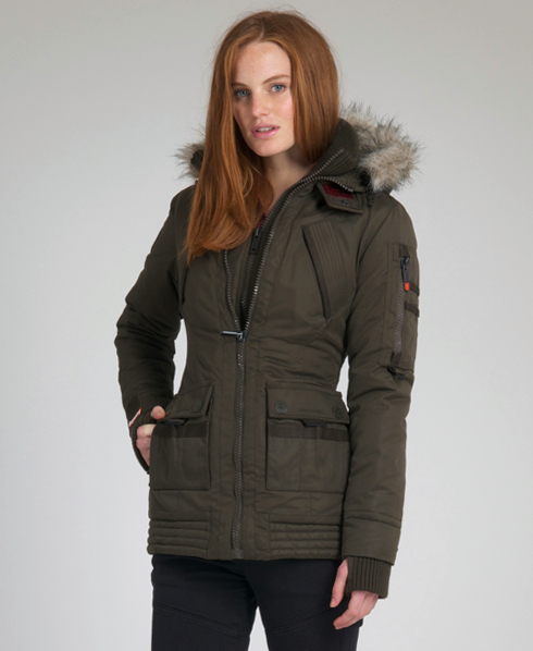 neue damen superdry patrol parka jacke ditch gr n ebay. Black Bedroom Furniture Sets. Home Design Ideas