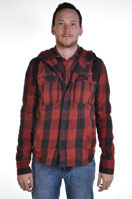 New-Mens-Superdry-Timber-Shirt-Jacket-Red-Vice