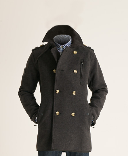 New-Mens-Superdry-Off-Jermyn-St-Pea-Trench-Coat-Slate-Grey