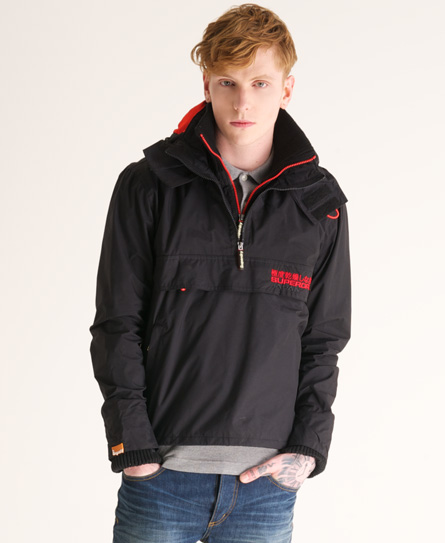 neue herren superdry pop zip windcheater jacke schwarz ebay. Black Bedroom Furniture Sets. Home Design Ideas