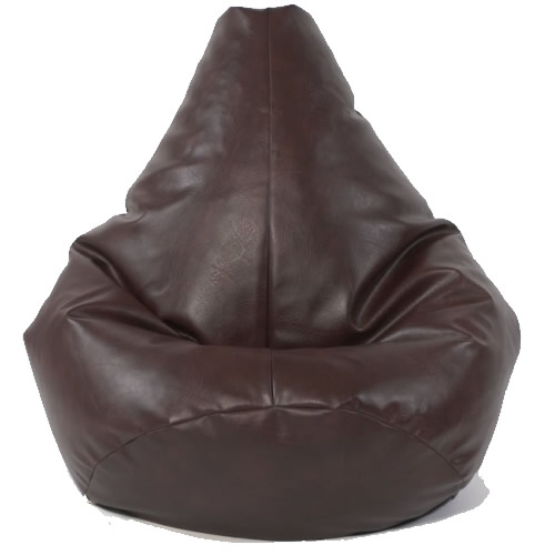 medium highback dark brown faux leather bean bag chair seat gaming furniture. Black Bedroom Furniture Sets. Home Design Ideas