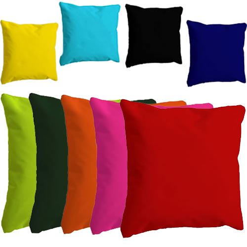 DELUXE WATERPROOF WASHABLE SCATTER CUSHIONS INDOOR OUTDOOR FURNITURE 9 COLOUR