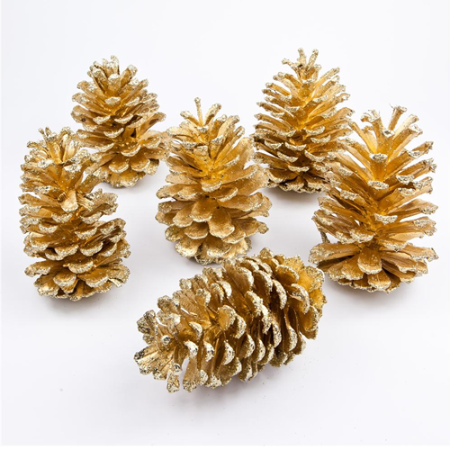 2kg gold pine cones decorations for christmas wreaths for Pine cone christmas ornaments crafts