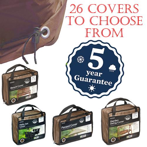 GARDMAN DELUXE BROWN PATIO FURNITURE COVERS 26 VARIETIES WATERPROOF GARDEN SET