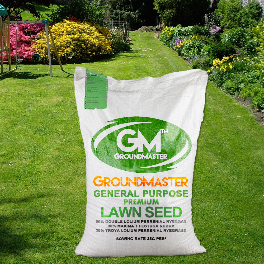 GroundMaster General Purpose Garden Premium Back Lawn Grass Seed