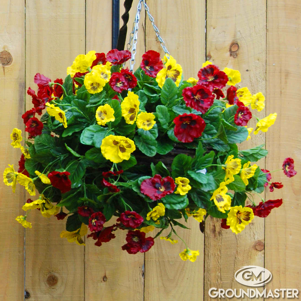 Decorative Hanging Flower Baskets : Decorative cm artificial pansy ball flower hanging