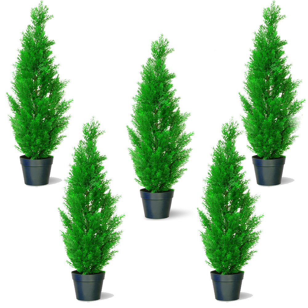 Decorative Indoor Trees Artificial 45cm Plastic Cedar Tree Indoor Decorative Outdoor