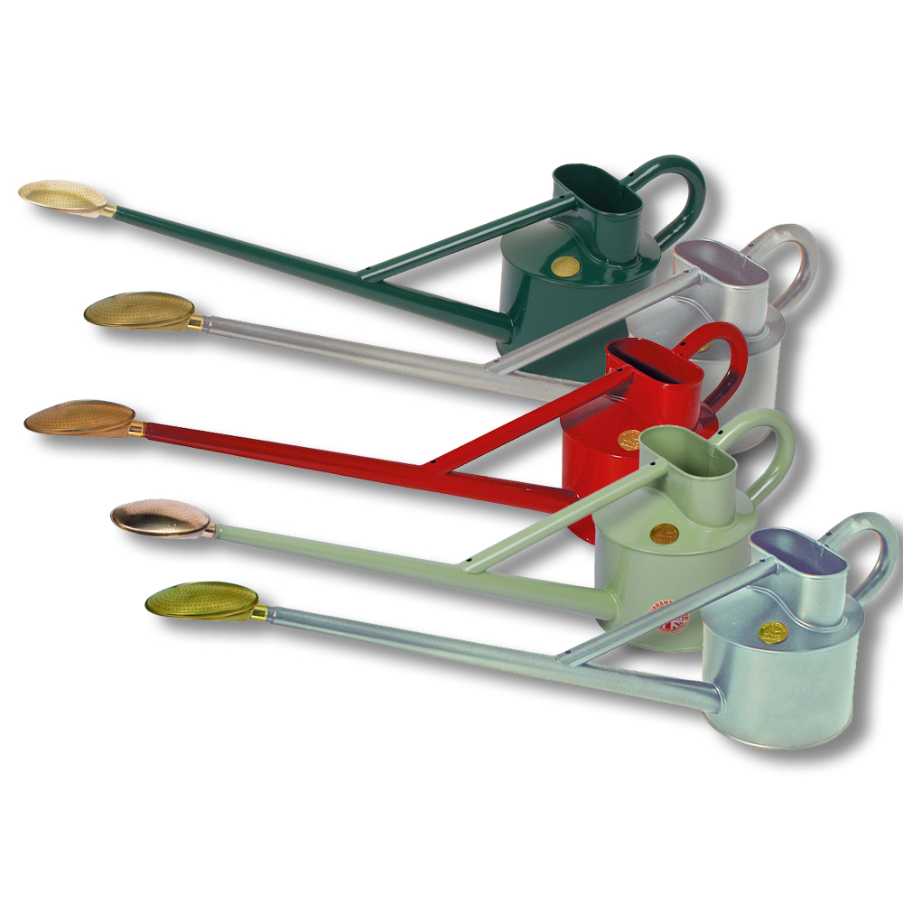 Haws 4 5 litre metal proffesional long reach watering cans various colours ebay Long reach watering can