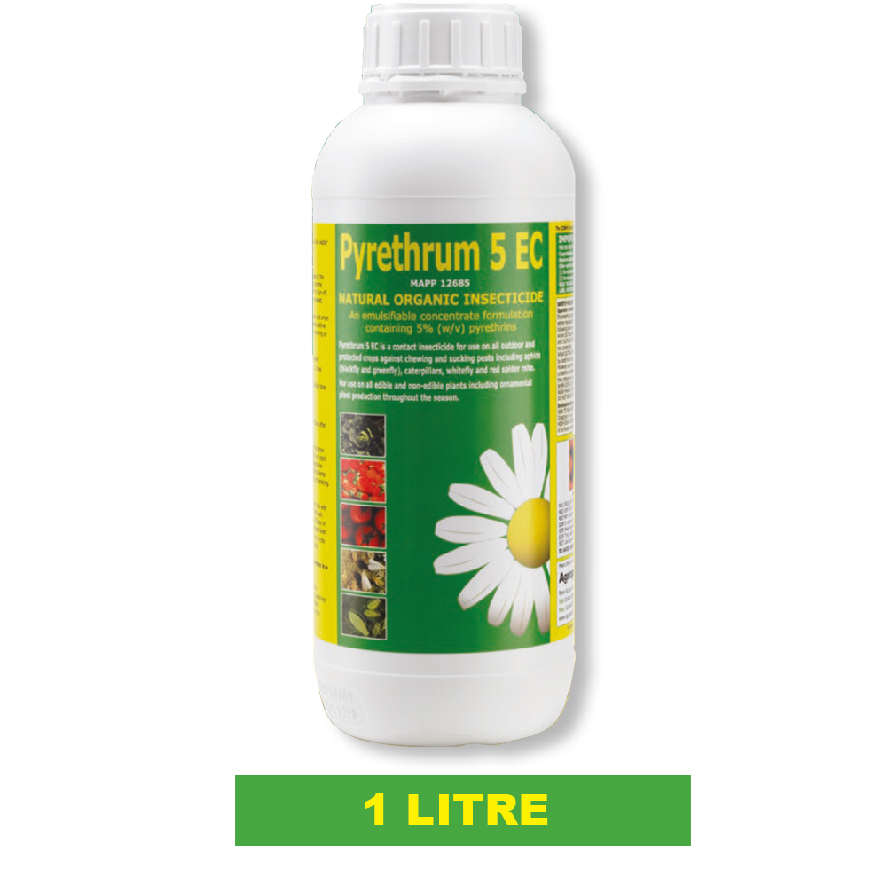 1 X Pyrethrum 5ec Organic Natural Insect Pest Plant Spray Crops In Various Sizes Ebay