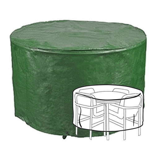 GARDMAN WATERPROOF PATIO SET COVER FOR ROUND LARGE GARDEN TABLE CHAIRS