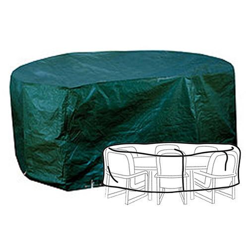 GARDMAN WATERPROOF PATIO SET COVER FOR OVAL MEDIUM GARDEN TABLE CHAIRS