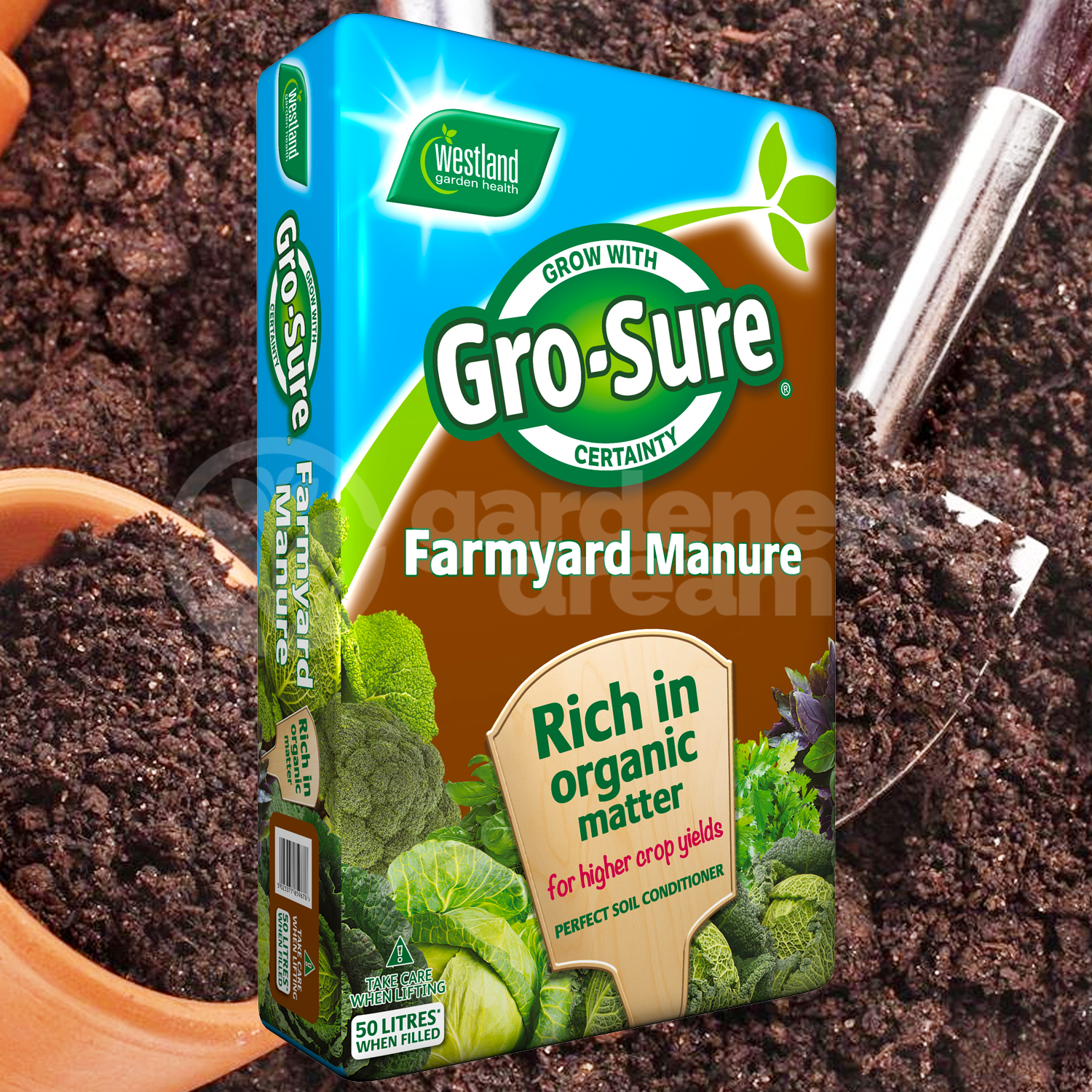 Image for westland multi purpose compost with john innes 50l from - Westland 50l Farm Yard Horse Manure Multi Purpose Soil Conditioner Fertiliser