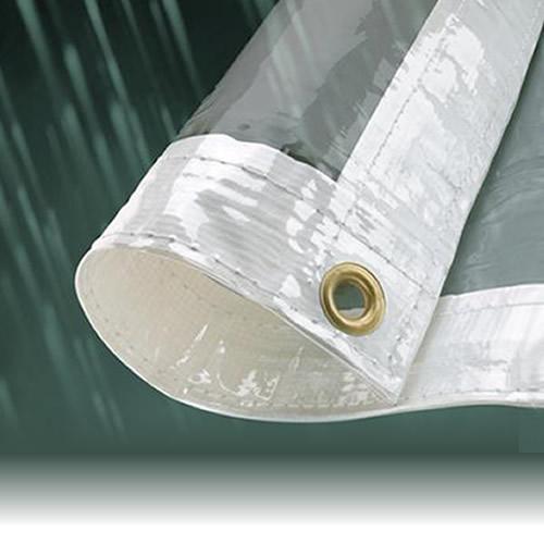 2m X 2 4m Clear Heavy Duty Waterproof Tarpaulin Sheet Tarp