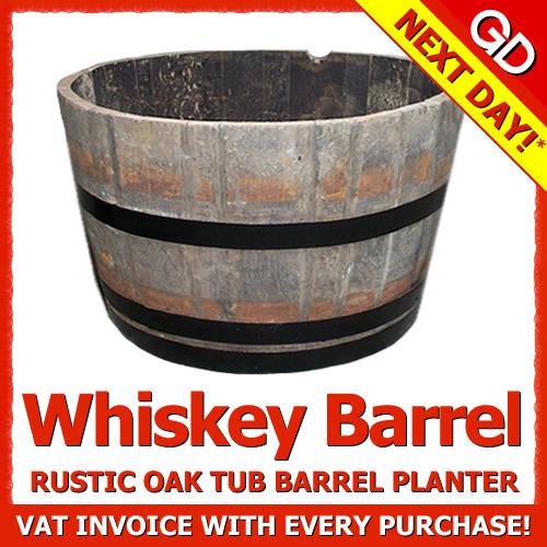 28 real wooden whiskey barrel planter garden plants for Whiskey barrel bathtub