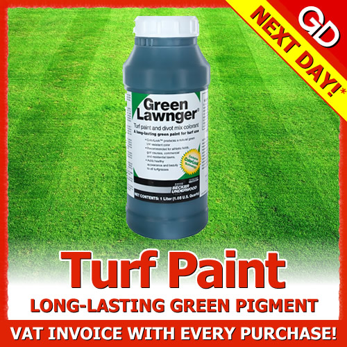 1l green lawnger turf paint greener grass lawn treatment free cup. Black Bedroom Furniture Sets. Home Design Ideas