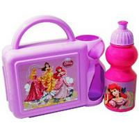 View Item Disney Princess Girls School Lunch Box Sandwich Bag + Sports Bottle Set New