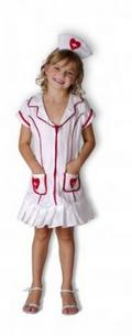 View Item Girls Kids Childrens Nurse Fancy Dress Costume 4-6 Years [Apparel]