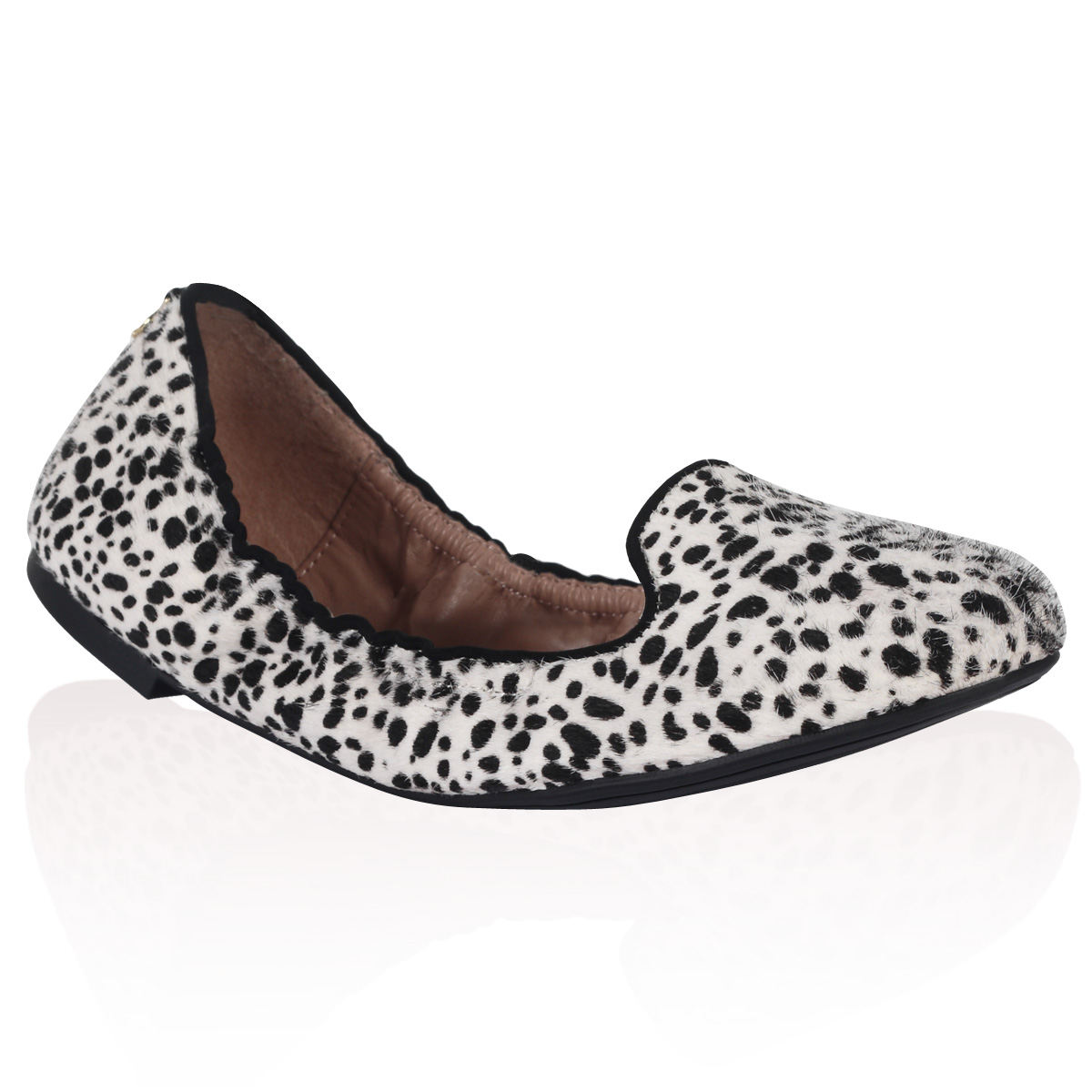 NEW-DUNE-LADIES-MEXXYS-BLACK-WHITE-DALMATION-FLAT-BALLERINA-PUMPS-SHOES-SIZE-3-8