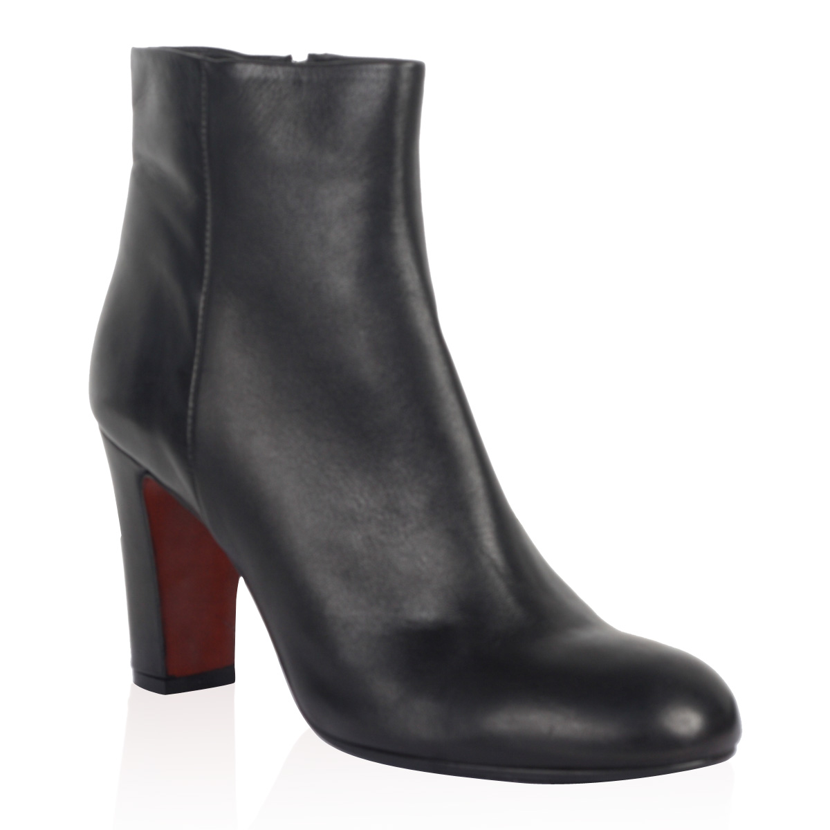 PIED-A-TERRE-LADIES-SANCHO-WOMENS-BLACK-BLOCK-HEEL-LEATHER-ANKLE-BOOTS-SIZE-3-8