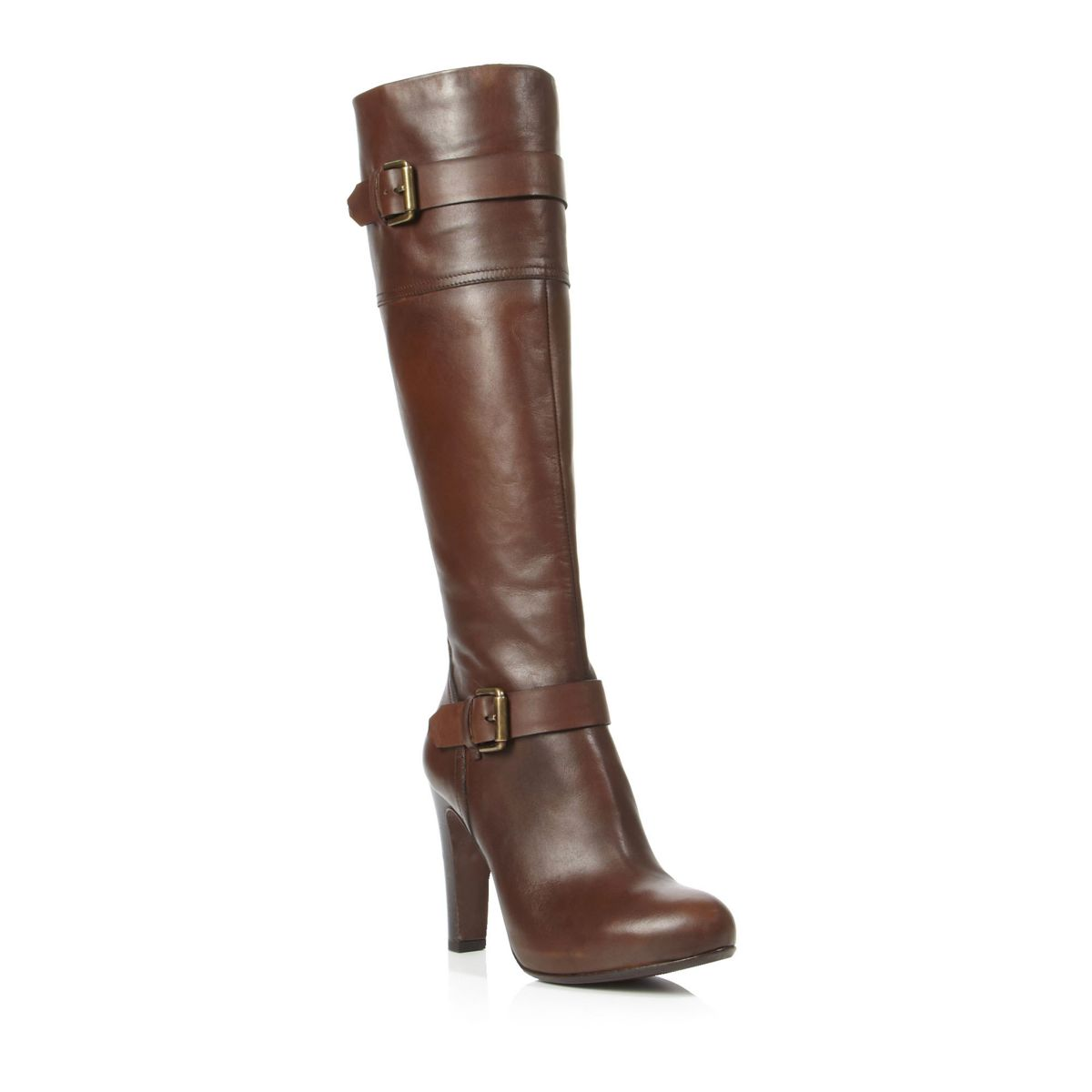 pied a terre pound brown leather knee high