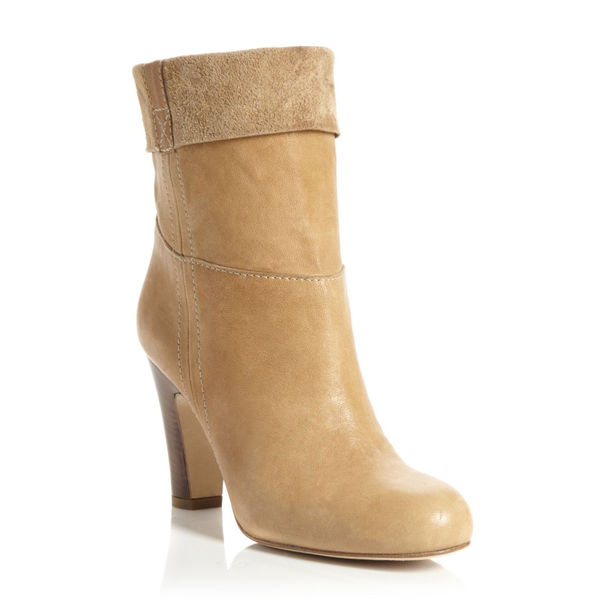 PIED-A-TERRE-SAMMA-BEIGE-LEATHER-LADIES-HIGH-HEEL-WOMENS-ANKLE-BOOTS-SIZE-3-8-UK