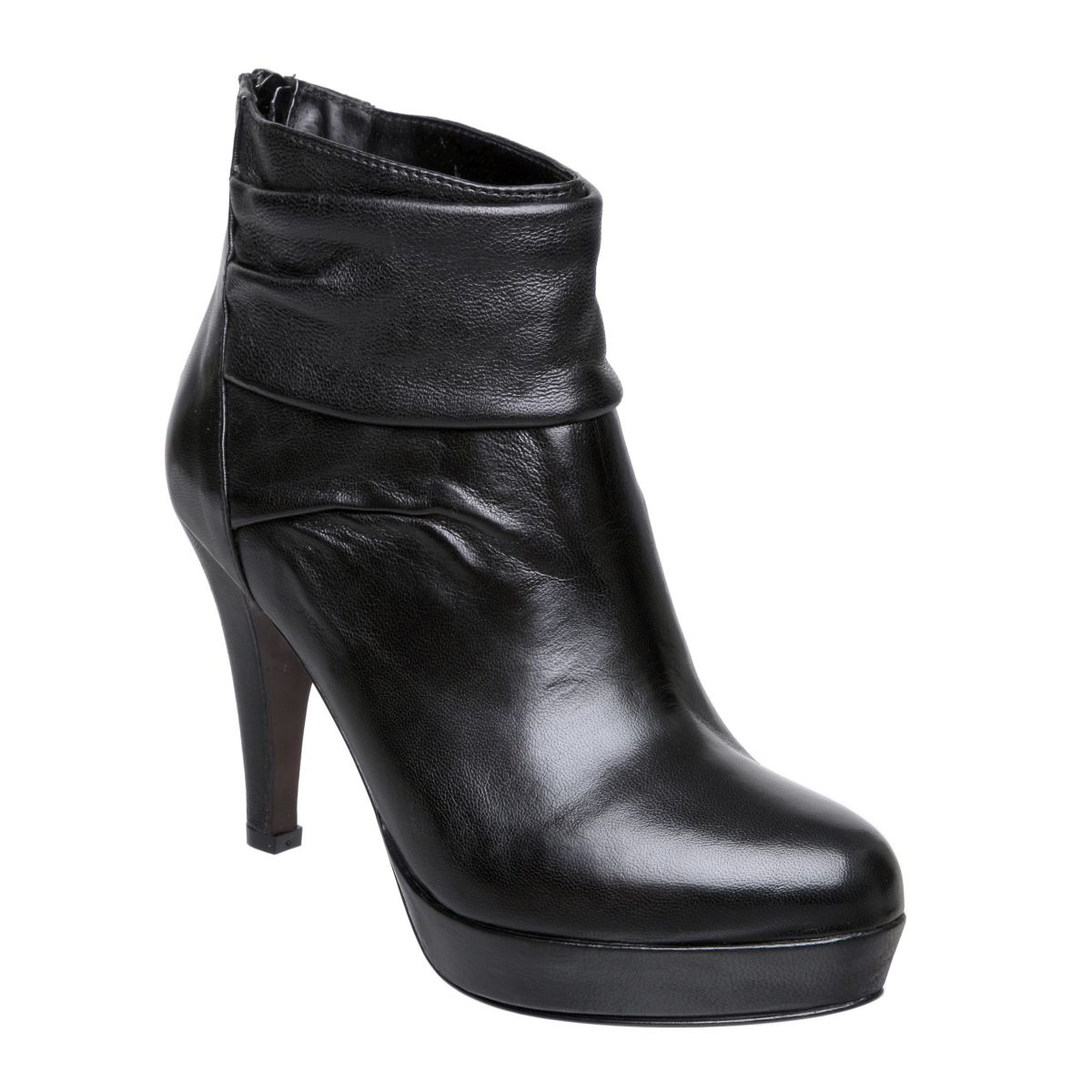 PIED-A-TERRE-SELENITE-BLACK-LEATHER-LADIES-HIGH-HEEL-WOMENS-ANKLE-BOOTS-SIZE-3-8