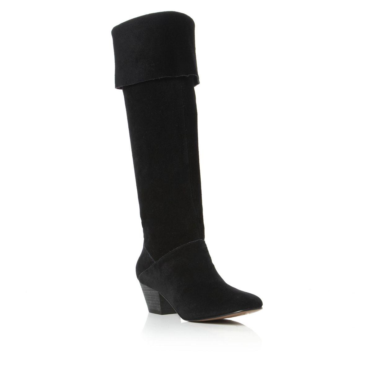 PIED-A-TERRE-SANDIE-BLACK-SUEDE-LADIES-KNEE-HIGH-HEEL-HI-LEG-CALF-BOOTS-SIZE-3-8