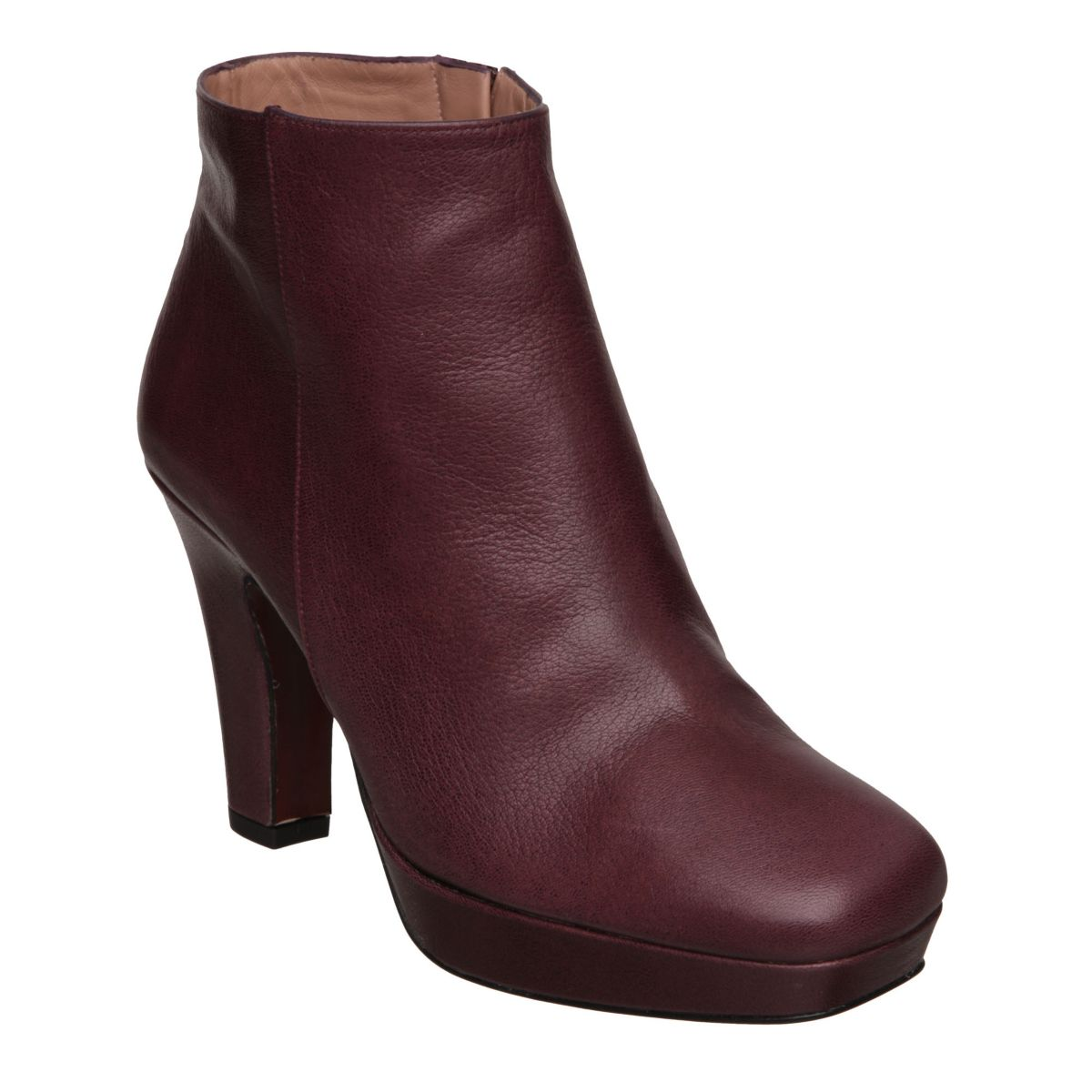 PIED-A-TERRE-SNYDERS-PURPLE-LEATHER-LADIES-HIGH-HEEL-WOMENS-ANKLE-BOOTS-SIZE-3-8