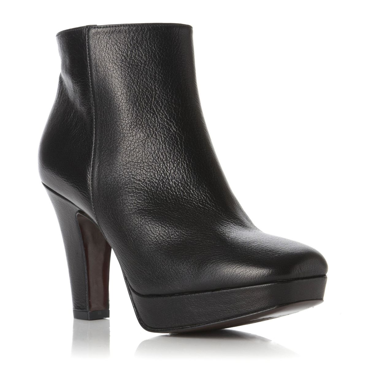 pied a terre snyders black leather high heel womens