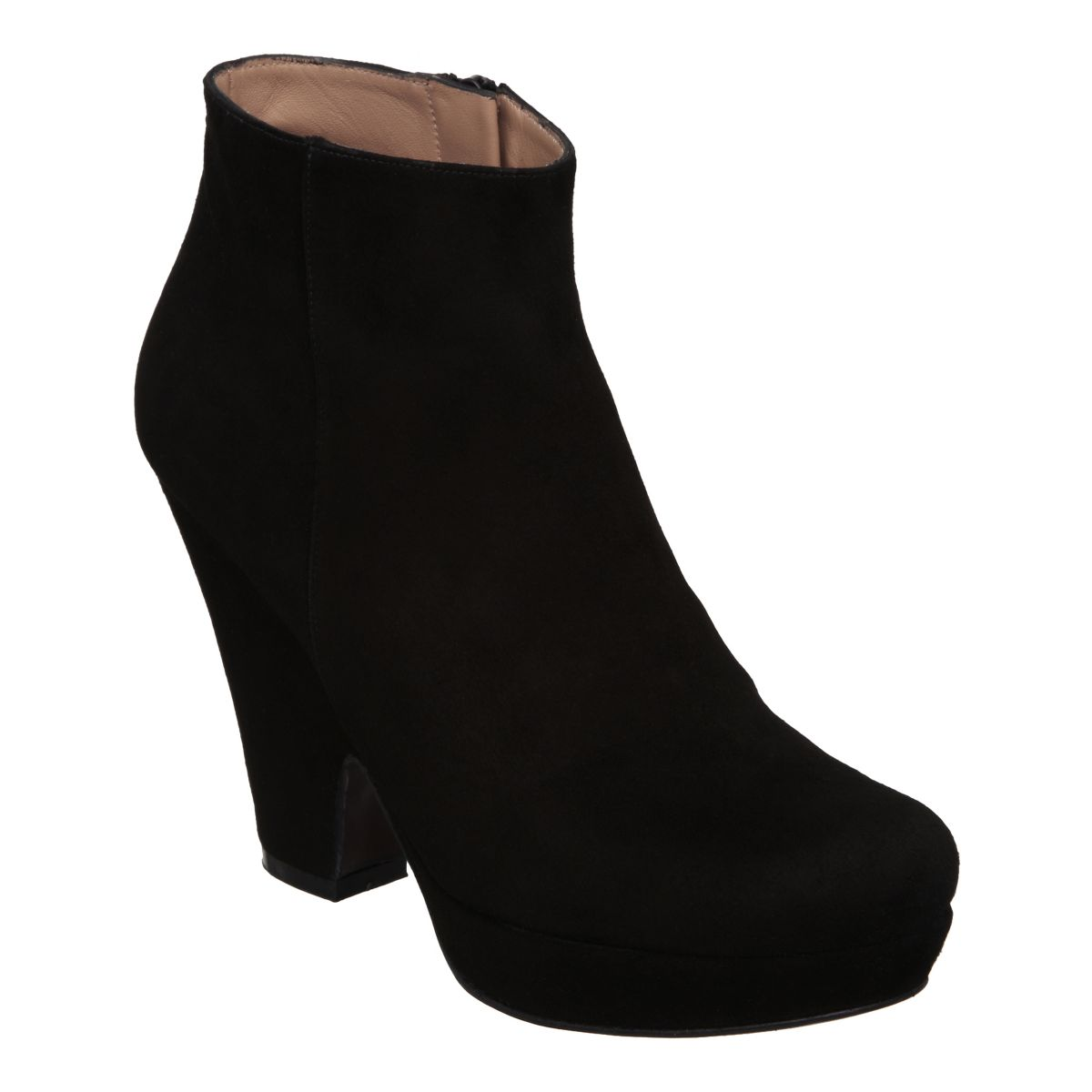 PIED-A-TERRE-SYMONS-BLACK-SUEDE-LADIES-BLOCK-HEEL-WOMENS-ANKLE-BOOTS-SIZE-3-8-UK