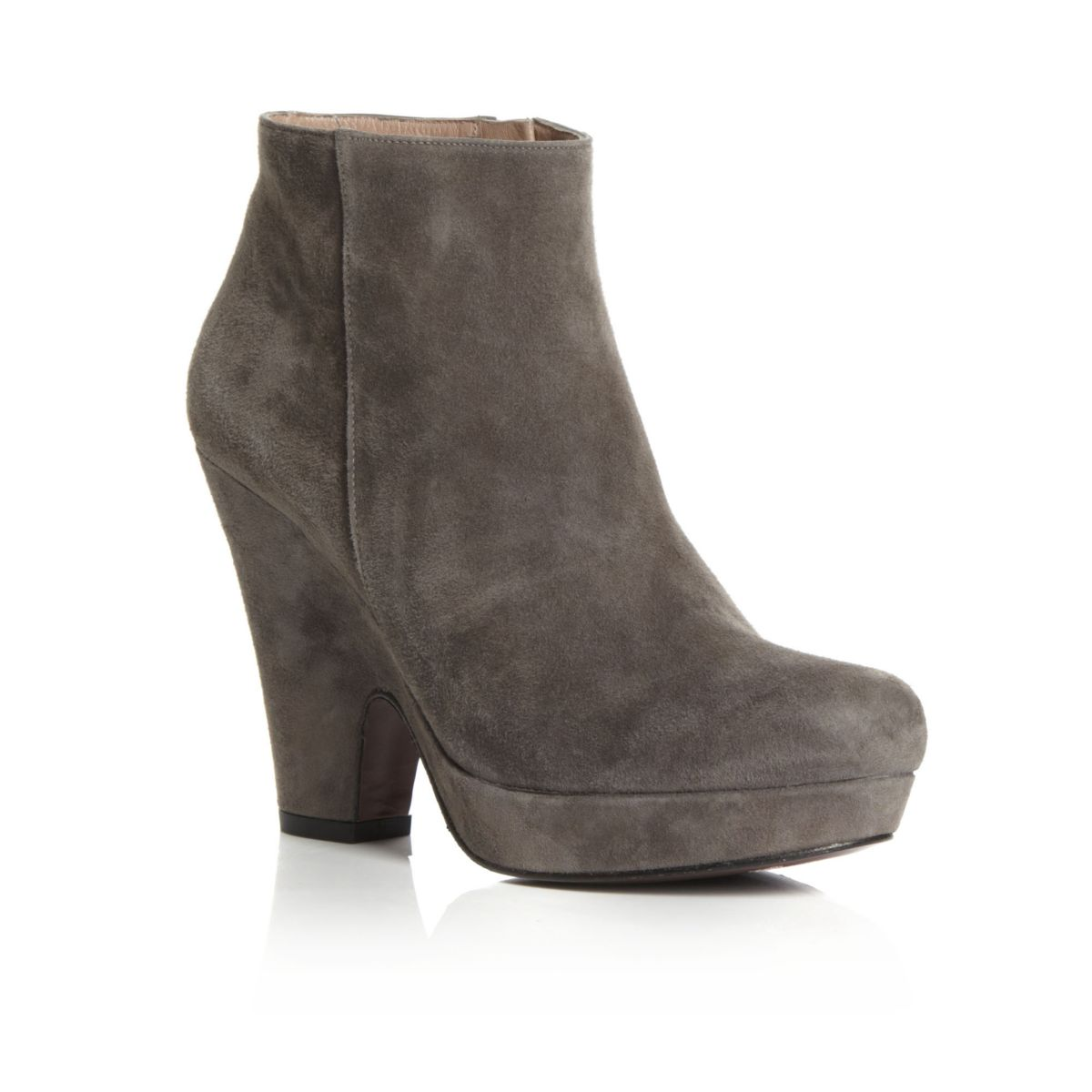 NEW-PIED-A-TERRE-SYMONS-TAUPE-GREY-SUEDE-LADIES-HEEL-WOMENS-ANKLE-BOOTS-SIZE-3-8