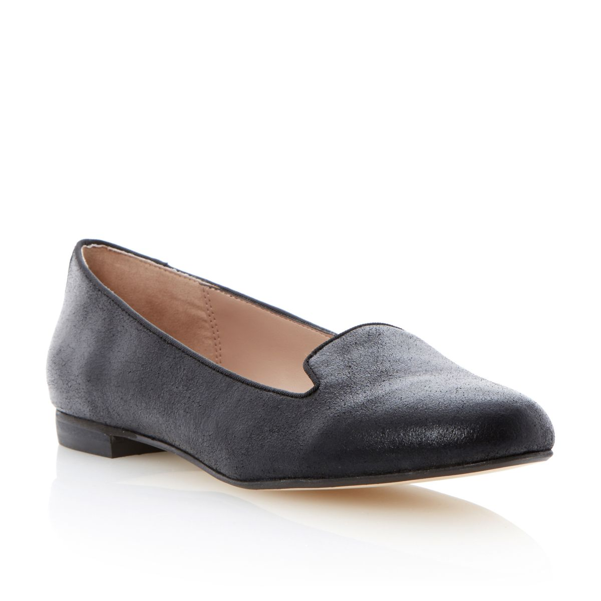 DUNE-LADIES-LIMBO-WOMENS-BLACK-SLIPPERS-FLAT-PLAIN-PIPING-SHOES-LOAFERS-SIZE-3-8