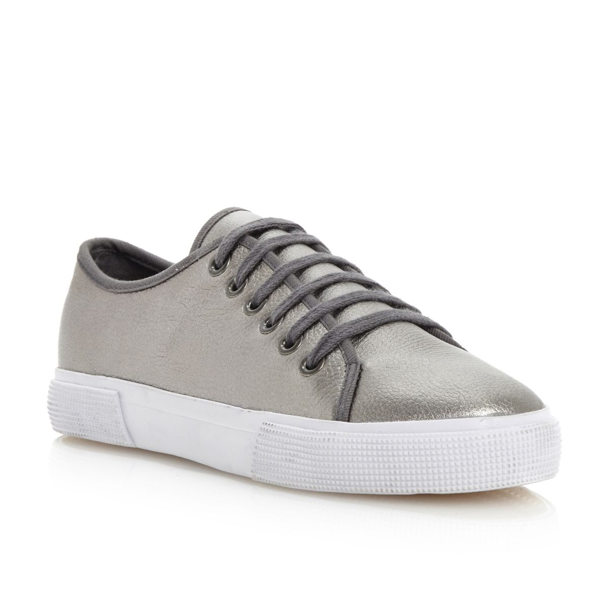 NEW-BERTIE-LADIES-POTTER-WOMENS-PEWTER-GREY-LACE-UP-TRAINERS-SHOES-SIZE-3-8-UK