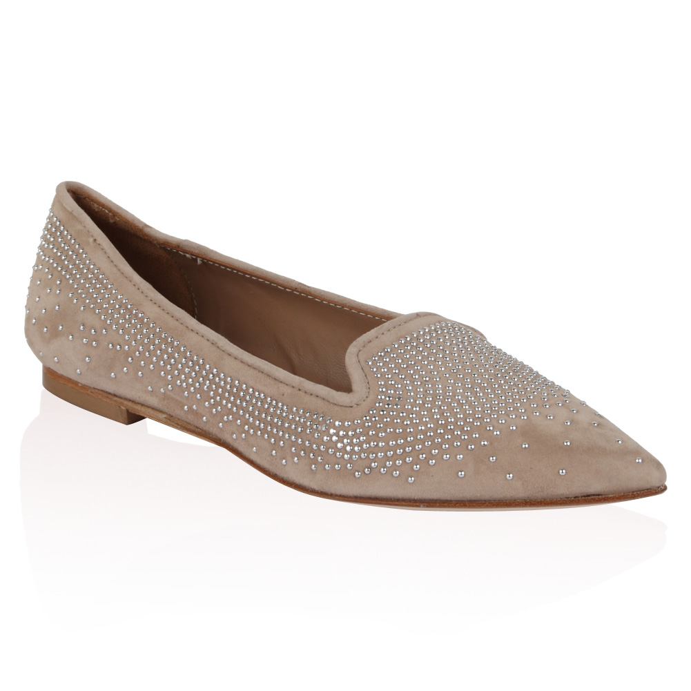 Pied A Terre Ladies Gunda Womens Beige Studded Pointed