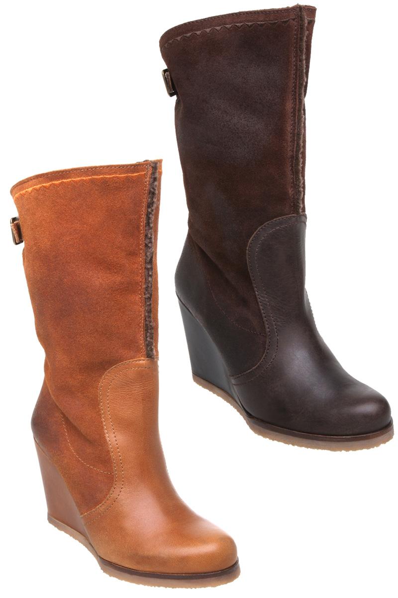 new bertie womens miguel leather high wedge heel