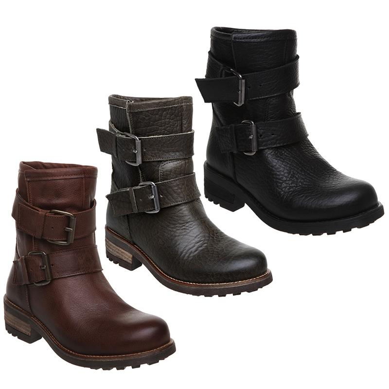 new bertie womens neci leather low heel buckle flat