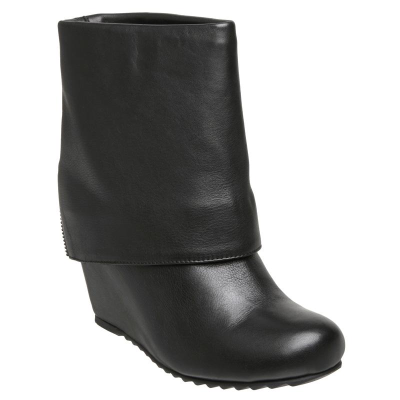 new dune womens black concealed wedge heel