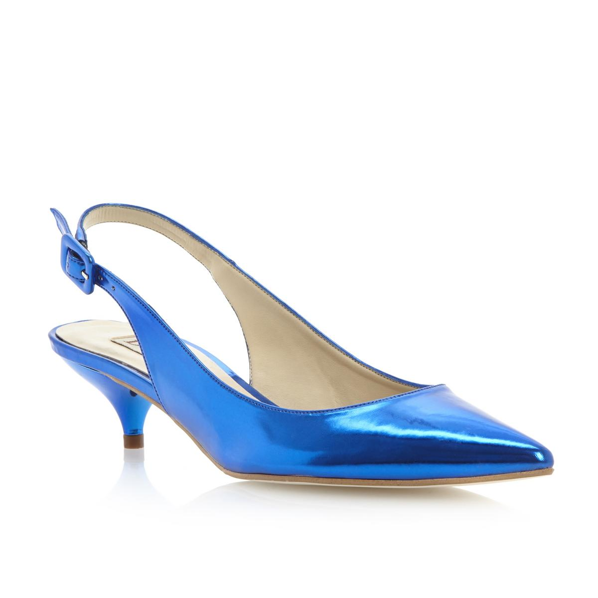 Explore our versatile range of blue shoes from brands like L.K. Bennett and Lotus. Our selection comes in all shades, from navy to pastel, and in styles as diverse as pumps, espadrilles and trainers. Fabryce by Anne Klein is a court shoe with kitten heel and patent toe cap. Show more. £ Product code: D Gabor Brunello Side.