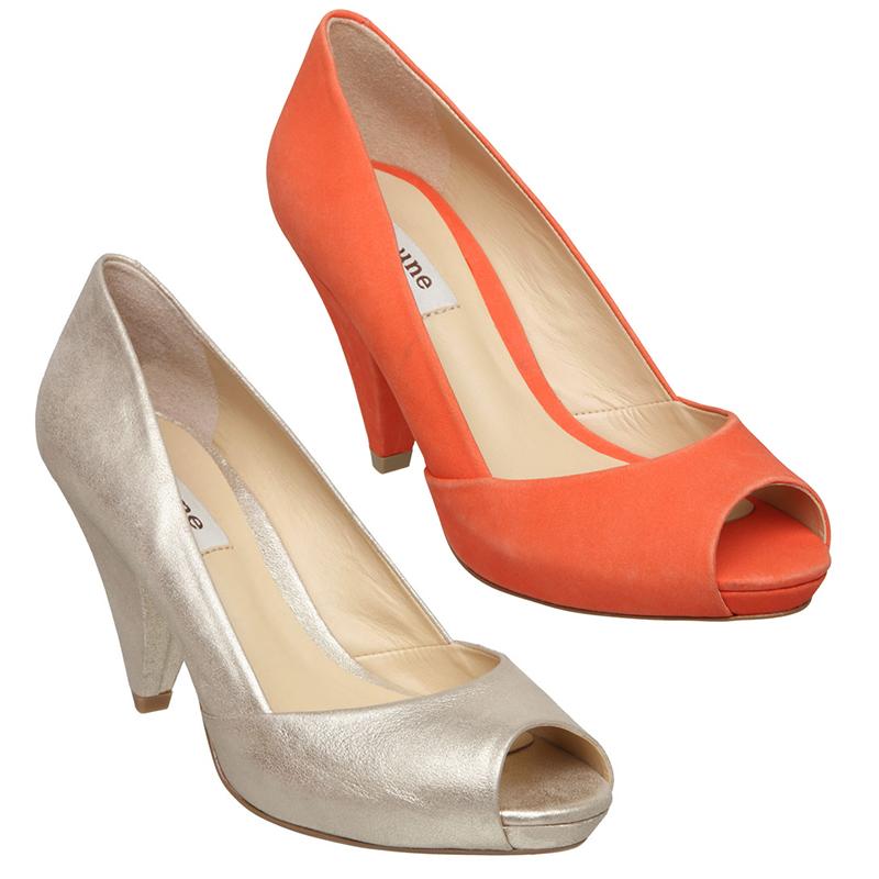 new dune womens carlie d high heel peep toe formal