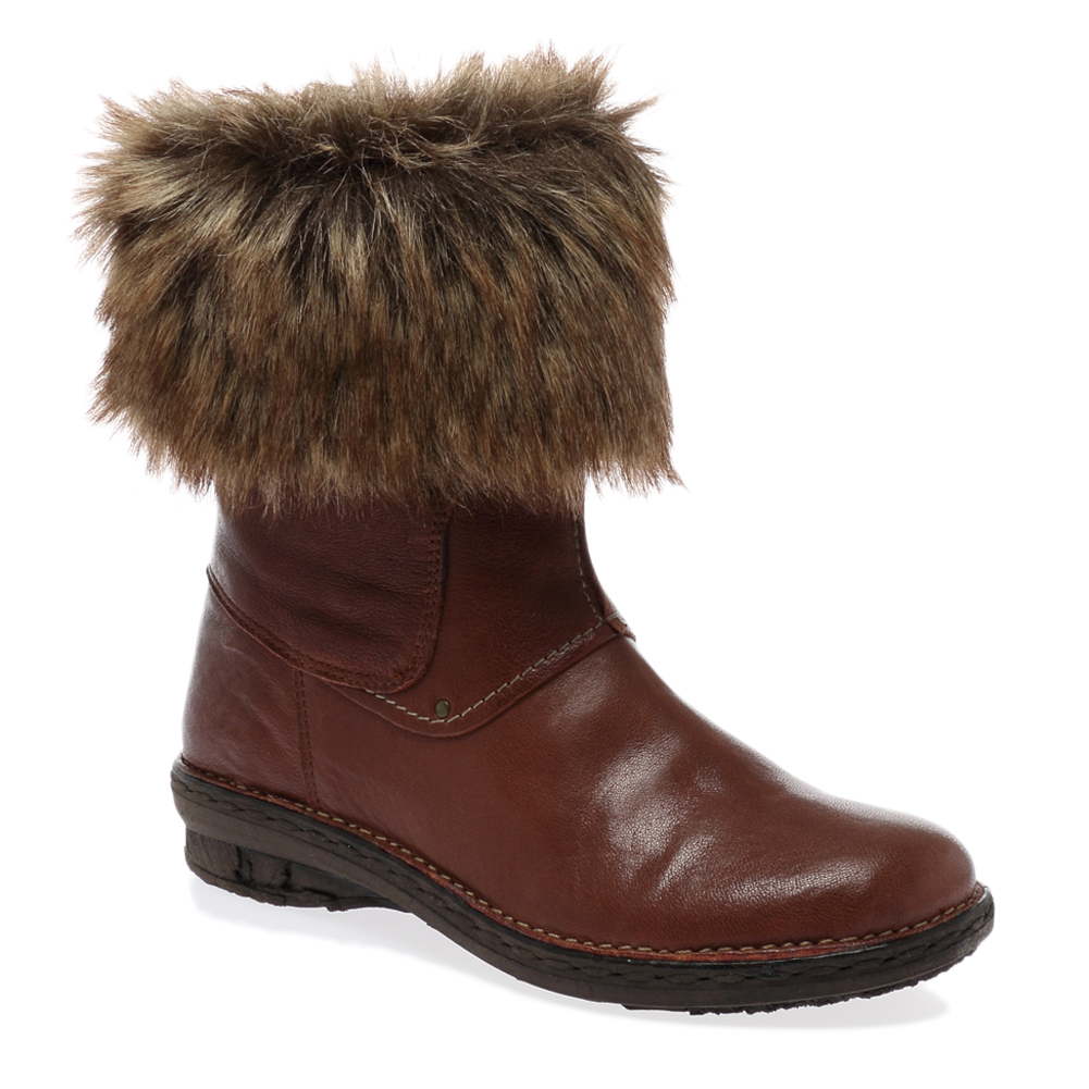 new dune jessamina womens brown leather faux fur