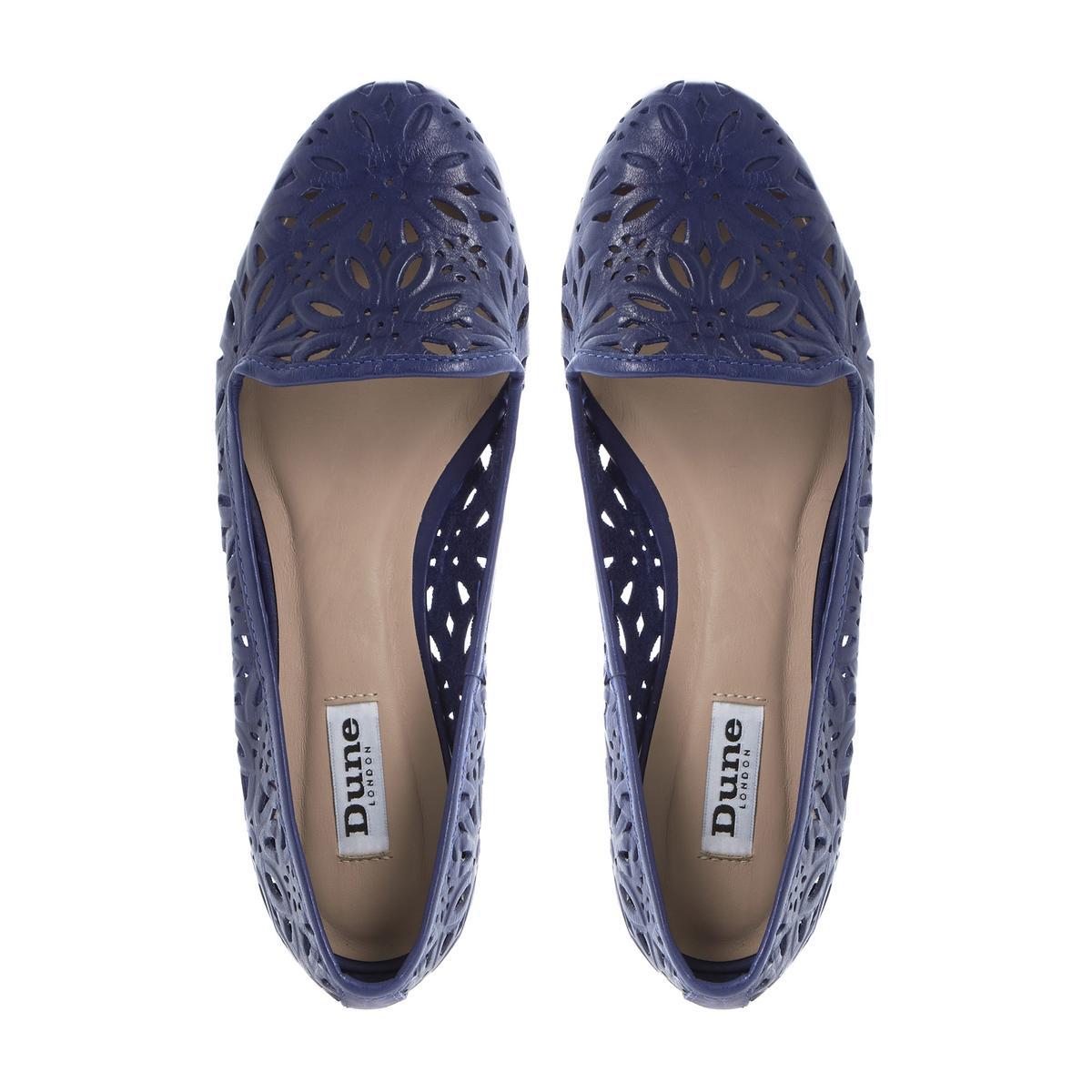 Navy Blue Flat Shoes Ladies