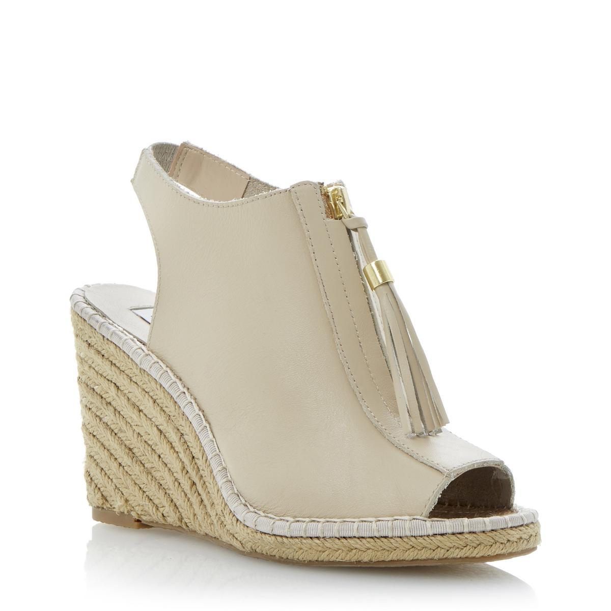 new dune gretal womens peep toe zip espadrille